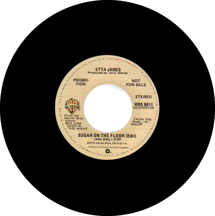 1978 Etta James   Sugar On The Floor Promo 7in Warner Brothers WBS 8611